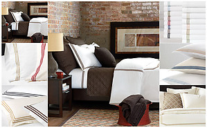 Tailored Embroidered Hotel Sheets & Bedding. De Medici Tessa