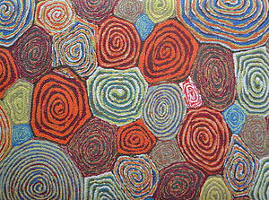 Giant Swirls Rectangle Felt Placemat. Lamontage by Liora Manne