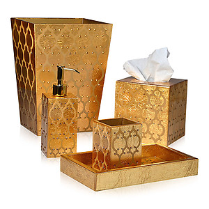 Mike & Ally Arabesque Gold Leaf Bath Accessories
