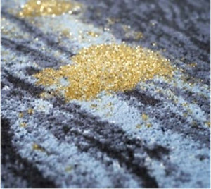 Abyss Habidecor Midnight Rug Gold and Blue