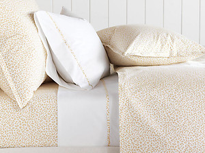 Golden Tan & White Leopard Duvet Cover & Sheets - Barclay Butera Tanner Sand