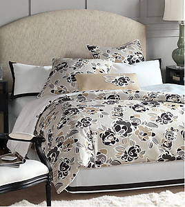 Eastern Accents Grey, White and Tan Floral King Bedding Set