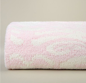 Kashwere Damask Pink and Cream Throw Blanket
