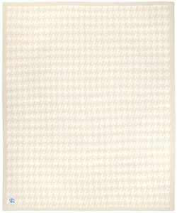Kashwere Half Throw Blanket Houndstooth Malt and Cream