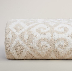 Malt and Cream Throw Blanket - Kashwere Diamond Damask
