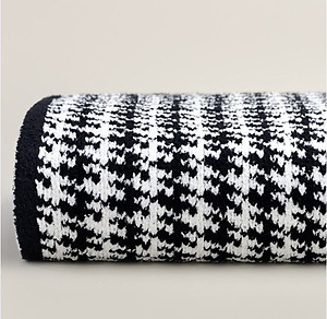 Houndstooth Pattern Throw Blanket - Kashwere Black and Cream