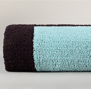 Tender Blue and Chocolate Brown Throw Blanket - Kashwere