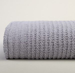 Light Gray Waffle Weave Throw Blanket - Kashwere