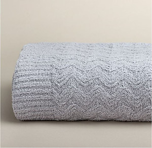 Kashwere Stone Light Gray Wave Throw Blanket