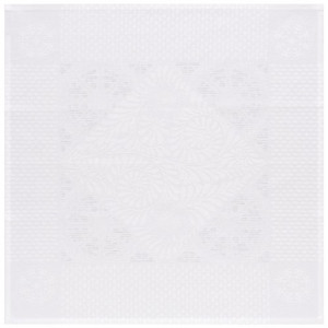 Le Jacquard Francais Bosphore Blanc White Patterned Table Linens