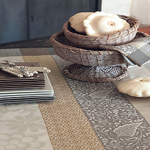 Le Jacquard Francais Provence Beige Cotton Table Linens