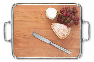 Match Pewter Medium Cheese Tray Cutting Board with Handles