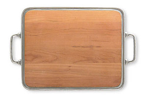 Match Pewter Large Cheese Tray Cutting Board with Handles