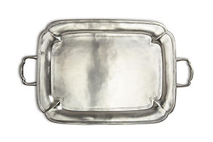 Match Pewter Medium Parma Tray with Handles