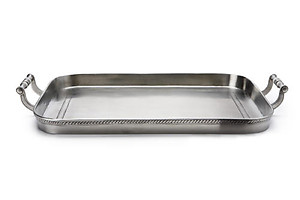 Match Pewter Medium Gallery Tray with Handles