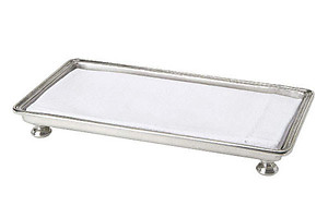 Match Italian Pewter Footed Guest Towel Tray