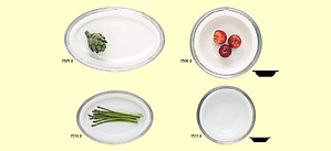 Match Italian Pewter White Convivio Tableware