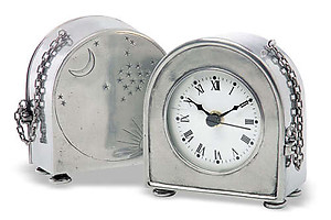 Pewter Table Clock by Match Pewter