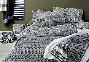 Missoni OZ Black & White Zig Zag Pattern Sheets & Duvet Covers