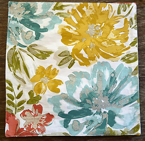 Nicole Miller Bright Floral Square Cotton Placemats - Silver