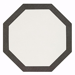Bodrum Bordino Charcoal Grey White Octagon Easy Care Place Mats - Set of 4