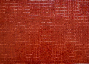 Paprika Red Alligator Pattern Faux Leather Rectangle Placemats