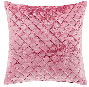 Patina Rose Pink Velvet Decorative Pillow by Pine Cone Hill