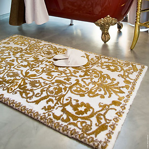 Abyss Habidecor Perse Gold Bath Mat Rugs