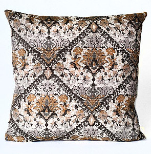 Pewter, Charcoal and Gold Tapestry Pillow by Daniel Stuart Studios
