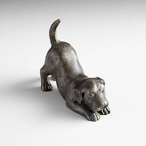 Playful Puppy Metal Figure Iron