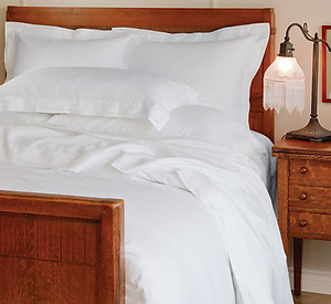 Elegant Pleated White Modal Bedding - St Geneve Bellino