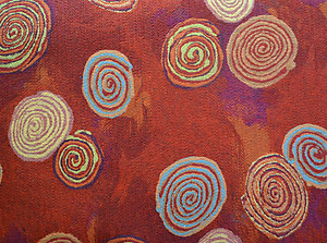 Rusty Red Swirls Felt Placemats. Lamontage by Liora Manne