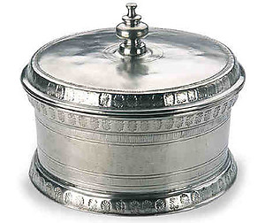 Round Engraved Pewter Box by Match Pewter