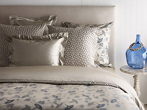 Patterned Silk Sheets & Bedding - SDH Gigi Steel