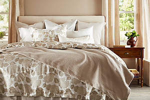 SDH Hydrangea Oyster Luxury Bedding and Sheets