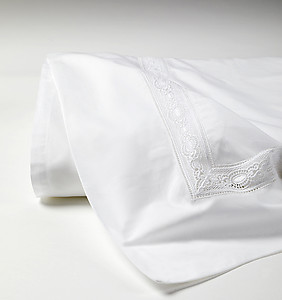 SFERRA Giza 45 Lace Sheets & Bedding, White or Ivory