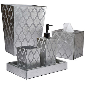 Mike & Ally Arabesque Silver Leaf Bath Accessories