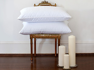 Eiderdown Pillows, Egyptian Cotton Covered, by St. Geneve