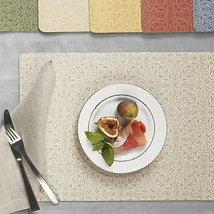 Sferra Trellis Wipeable Placemats. 3 Colors