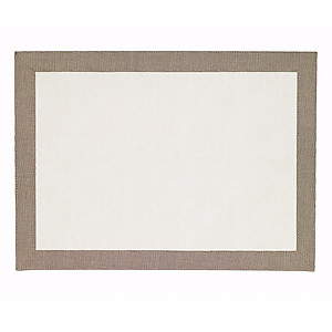 Bodrum Bordino Oatmeal White Rectangle Easy Care Place Mats - Set of 6