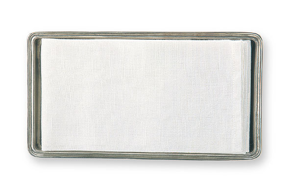 Italian Pewter Guest Towel Tray by Match