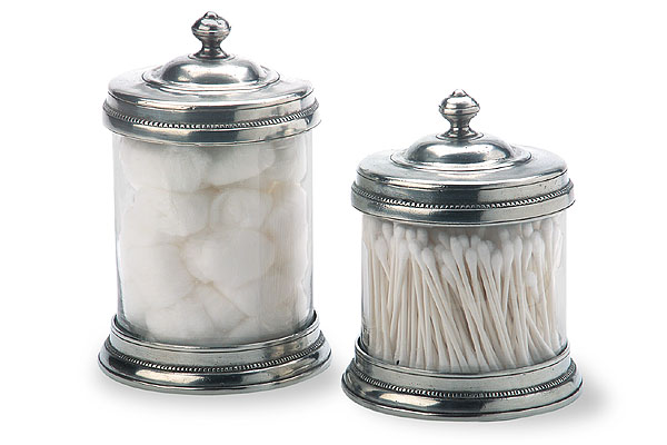 Match Italian Pewter Canisters