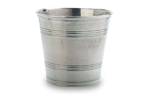 Italian Pewter Waste Basket by Match Pewter