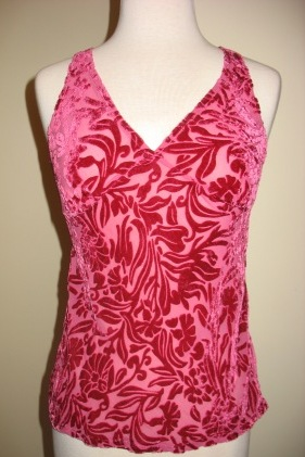 Bella Notte New Primrose Cut Velvet Floral Tank Shirts, 5 Colors