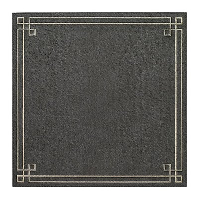 Bodrum Link Charcoal Grey Silver Square Easy Care Placemats - Set of 6