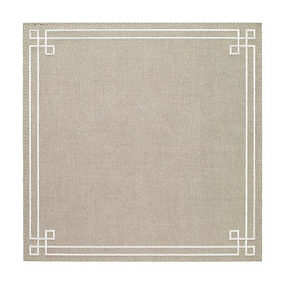 Bodrum Link Oatmeal White Square Easy Care Placemats - Set of 6