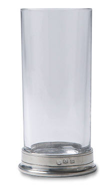 Crystal & Pewter Highball Drink Glass. Match Pewter item 1197.0