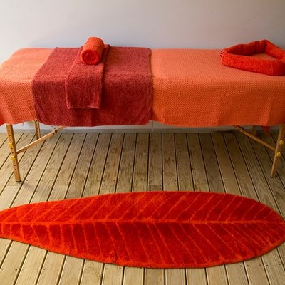 Abyss Habidecor Feuille Leaf Pattern Bath Mat Rug