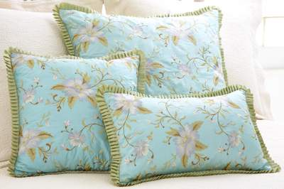 Pine Cone Hill Pillow - Marie Aqua