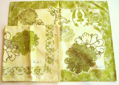 Beauville Orfeo Green Floral Placemats & Napkins